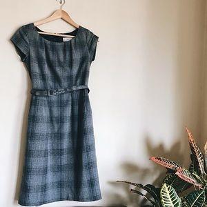 Merona Gray Plain Ponte Dress Belted  Size 2